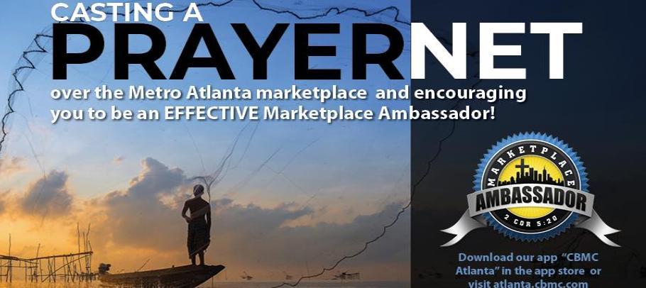 Prayernet advertisement with man fishing